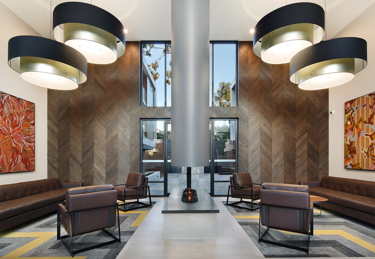Nelson St, Ringwood Apartments Lobby - C&K Architecture