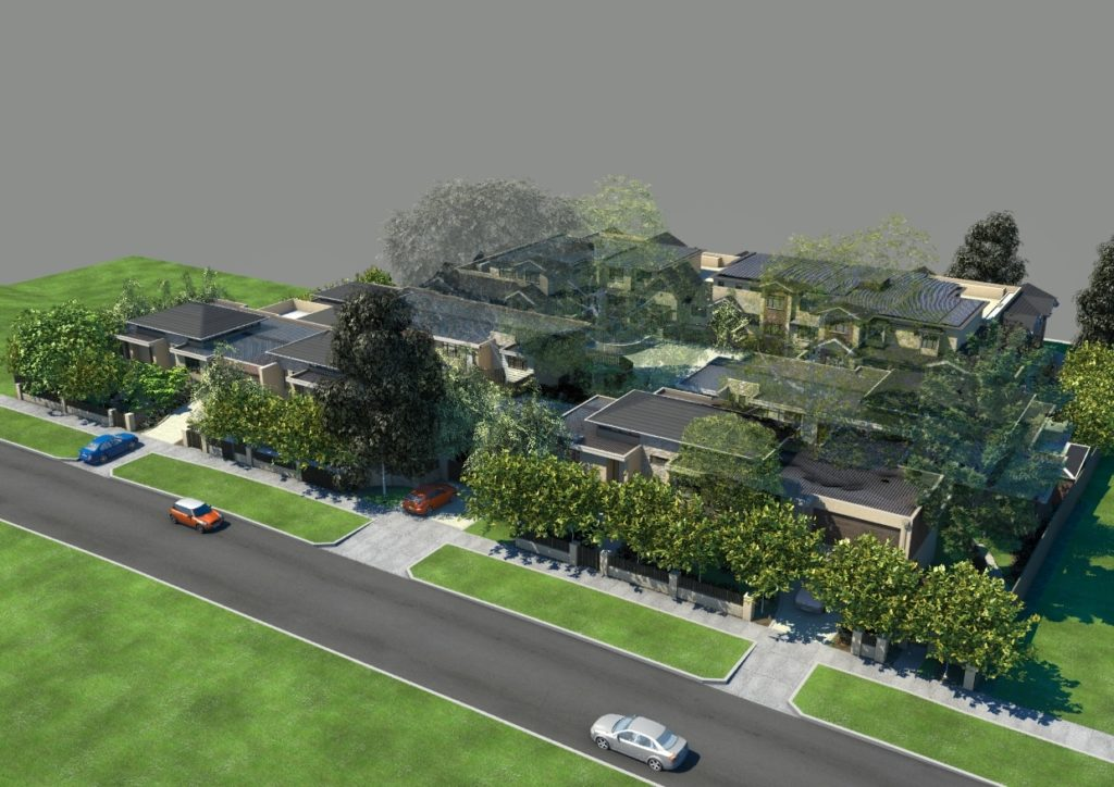 2. Yarrbat Place, Balwyn Retirement Village (Aged Care & Health) Perspective 1 - C&K Architecture