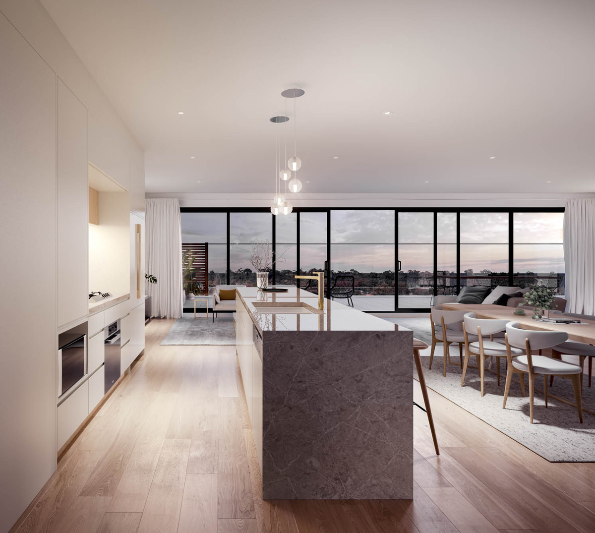 C&K Architecture Bourke St Apartments Residential